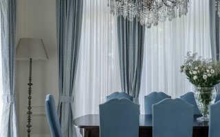 Многослойные шторы для гостиной
