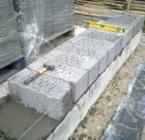 Технология укладки керамзитобетонных блоков