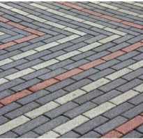 Укладка тротуарной плитки кирпичик