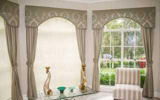 Красивые шторы с ламбрекеном в гостиную