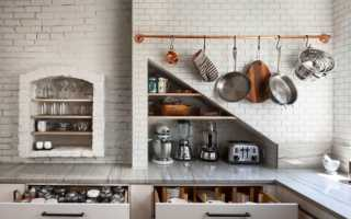 Рейлинги на кухню на какой высоте вешать