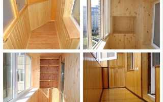 Балконы с вагонкой