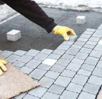 Бетонное основание под тротуарную плитку