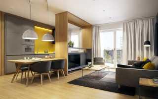 Кухня гостиная столовая 30 кв м