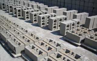 Размер цементного блока