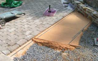 Подготовка поверхности для укладки тротуарной плитки