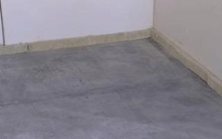 Как утеплить бетонный пол видео