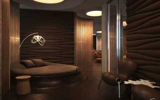 Темно коричневая спальня