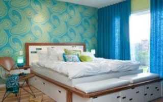 Каким цветом поклеить спальню