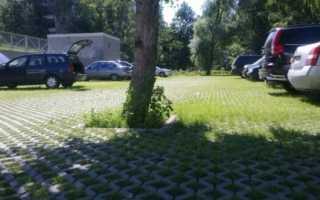 Тротуарная плитка на газоне