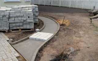 Устройство брусчатки на бетонное основание