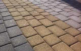 Состав сухой смеси для укладки тротуарной плитки