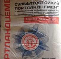 Сульфатостойкий портландцемент свойства