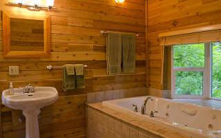 Чем обшить деревянные стены в ванной