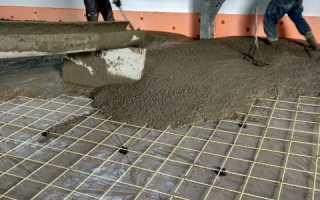 Расчет укладки бетона