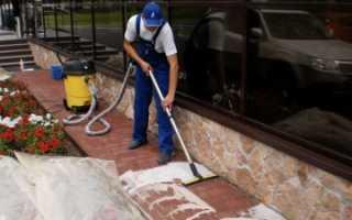 Как отмыть тротуарную плитку от грязи