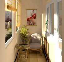 Цвет стен на балконе