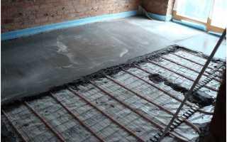 Теплая бетонная стяжка