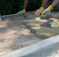 Укладка тротуарной плитки на гарцовку технология