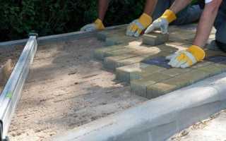 Технология укладки тротуарной плитки на гарцовку