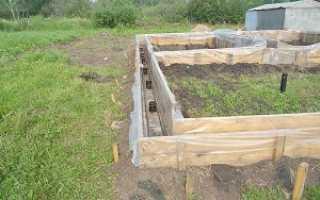 Свайно ленточный фундамент для дома из газобетона