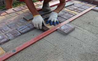 Тротуарная плитка укладка на раствор своими руками
