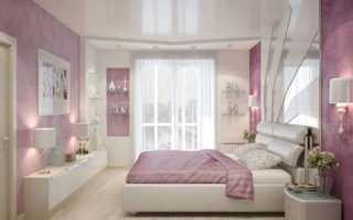 Цветной потолок в спальне