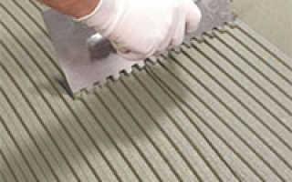 Укладка полимерной плитки на бетонное основание