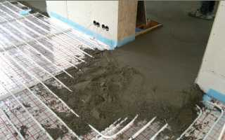 Марка бетона для стяжки теплого пола