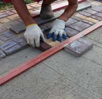 Тротуарная плитка по бетону