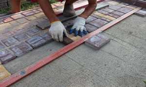 Чем приклеить тротуарную плитку к бетону