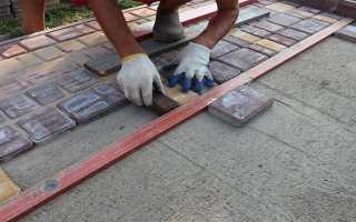 Монтаж тротуарной плитки на бетонное основание