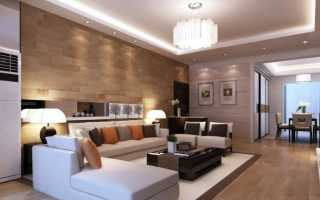 Освещение в гостиной без люстры