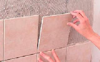 Укладка плитки в ванной углы