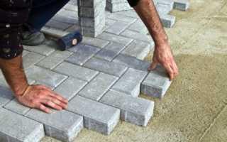Какой песок для укладки тротуарной плитки