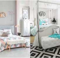 Спальни разных цветов