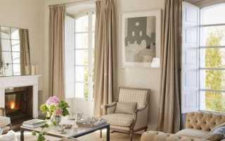 Бежевый цвет стен в гостиной