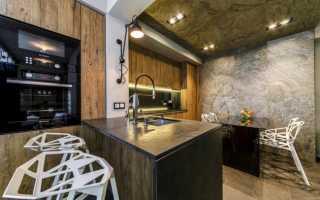 Кухня гостиная 22 метра