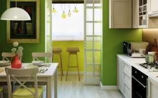 Кухни соединенные с балконом