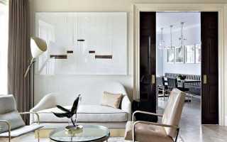 Зонирование потолка в гостиной