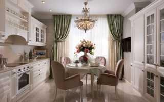 Кухня совмещенная с гостиной классика