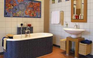 Чем недорого отделать ванную комнату