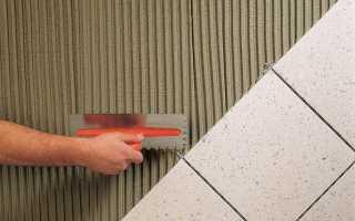 Плиточный клей на бетонную стену
