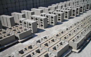 Пескобетонные блоки для фундамента