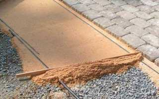 Основание под брусчатку и тротуарную плитку
