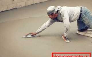 Как зажелезнить цементную стяжку