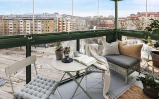 Скандинавский стиль балкон