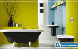 Какой краской покрасить стену в ванной