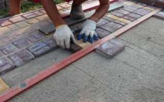 Укладка тротуарной плитки на цпс