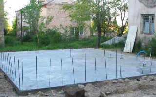 Фундамент из бетонных плит